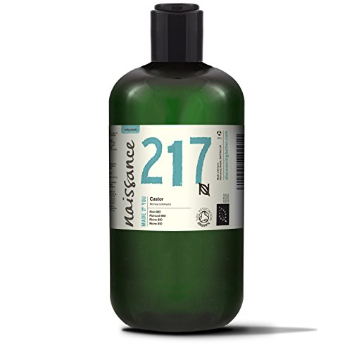 Naissance Rizinusöl BIO 500ml - reines, natürliches, BIO zertifiziertes, kaltgepresstes, veganes, hexanfreies, gentechnikfreies Öl - pflegt und spendet Feuchtigkeit für Haare, Wimpern und Augenbrauen