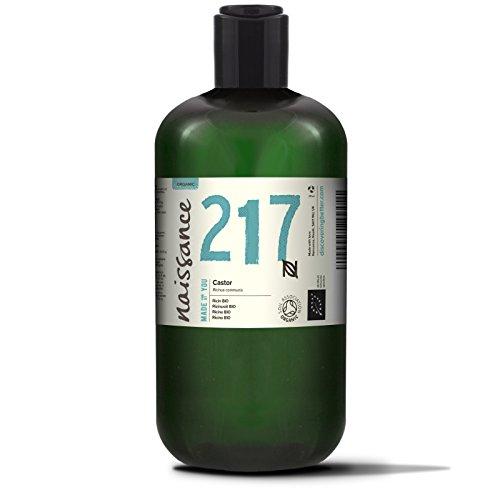 Naissance kaltgepresstes Rizinusöl BIO 500ml - BIO zertifiziert, vegan, hexanfrei, gentechnikfrei