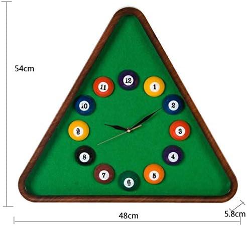 DollylaStore Horloge Murale Murale Murale Billard Boule de Balle personnalité créatrice  s Chambre en Plastique Silencieux Horloge à Quartz (Vert 54 * 48 * 5.8cm Emballage de 1) | Prix D'aubaine  98059e