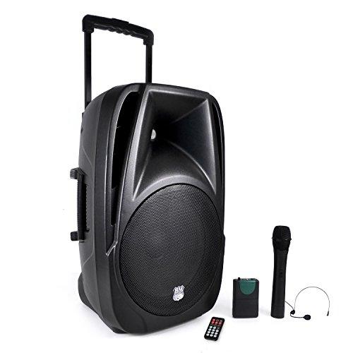 BM SONIC Transit-12 - Altavoces portátiles de 700 W (USB, Bluetooth,