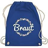 JGA Junggesellinnenabschied - Braut Blumenkranz - Unisize - Royalblau - WM110 - Turnbeutel & Gym Bag