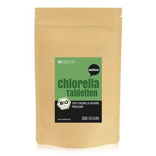 Preisvergleich Produktbild Wohltuer Bio Chlorella Rohkostqualität (DE-ÖKO-006), 500 g