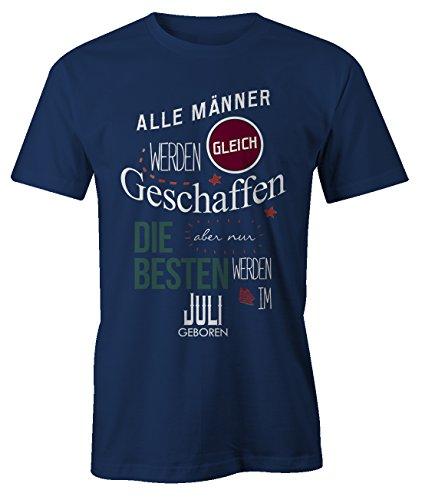 er Werden Gleich Geschaffen aber Nur Die Besten Werden IM Juli Geboren Geburtstag Geschenk T-Shirt Herren Marineblau X-Large (Her Von Juli T-shirts)
