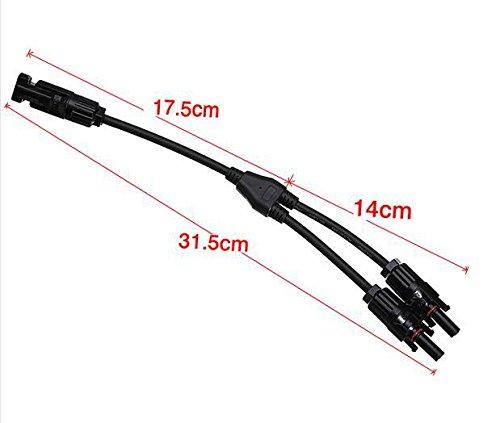 Nuzamas New 1/PAIR OF y Branch MC4/Parallel connettori adattatori 1/M2/F 2/M1/F con cavo per pannello solare sistema