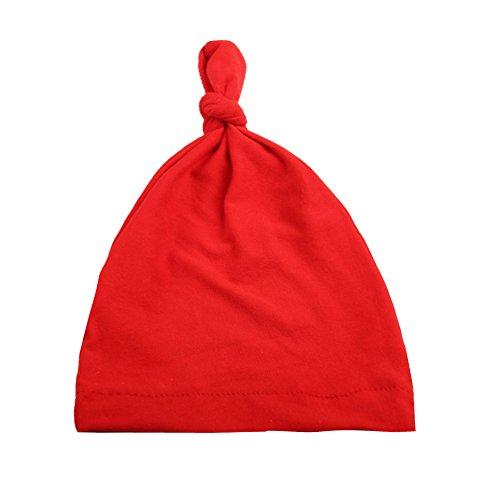 Baby Schutz geknotet Solide Farbe weichem Velours Single Knoten Hat Baby Gap (5verschiedenen Farben wählen)