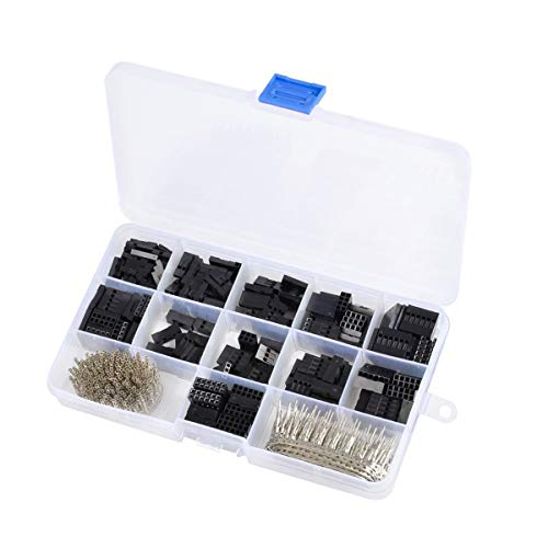 Gugutogo 620PCS Dupont Wire Jumper Header Connector Housing Assortment Kit Crimp Pin Male Female Terminal PCB Electronic DIY Kits Tools -