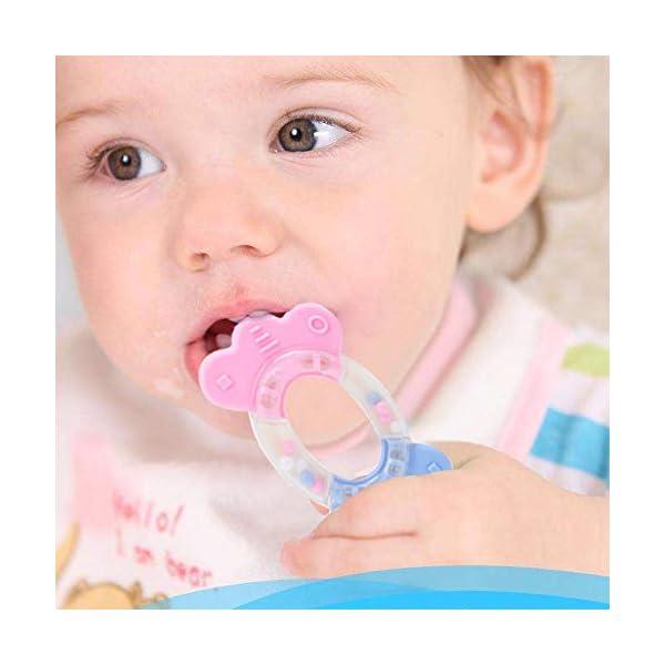 Vindar 10PCS Baby Rattles Teether Set,Grasping Grab Toy, Spin Shaking Bell, Sensory Teething Teether Rattle, Boiled Disinfection BPA Set for Infant Newborn Baby Toddler 2