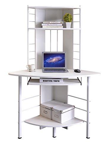 Computerschreibtisch für die Ecke in weiß
