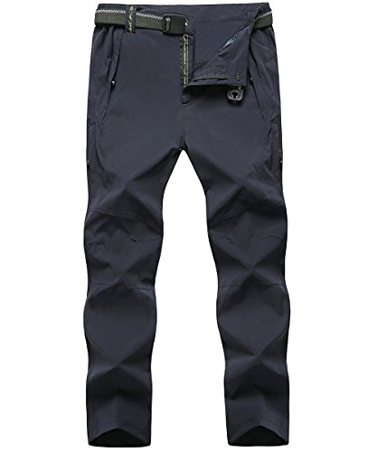 donhobo Herren Outdoorhose Climbing Pants Winddicht Atmungsaktiv Funktionshose Softshell Wanderhose Herbst(dünn Blau,3XL) (Columbia Trainingshosen)