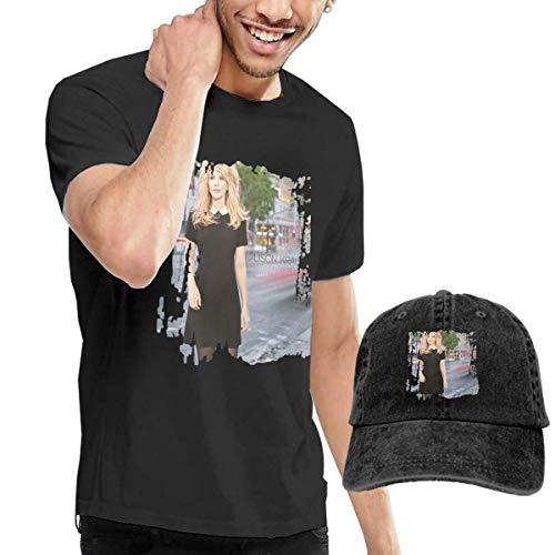 rmshirt Men's Alison Krauss Windy City T-Shirts Washed Denim Baseball Dad Hat Black ()