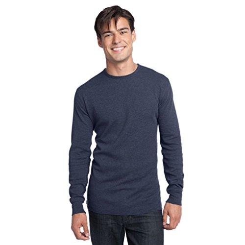 District Fäden Herren Long Sleeve Thermal T-Shirt xl Blau - Navy Heather (T-shirt Blau Thermal Long Sleeve)