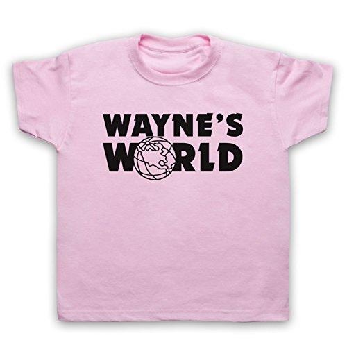 Inspiriert durch Wayne's World Logo Inoffiziell Kinder T-Shirt, Hellrosa, 12-13 Jahren