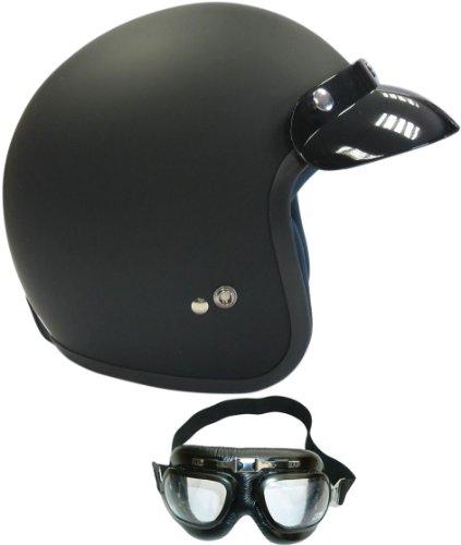 viper-rs-04-open-face-touring-helmet-matt-black-with-goggles-m-57-58-cm