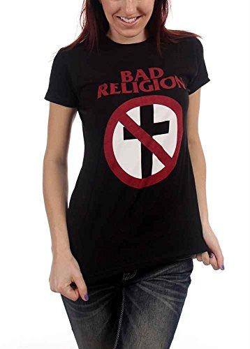 Bad Religion - - Damen-Kreuz Buster-T-Shirt, Large, Black