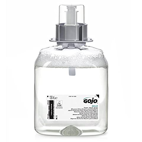 GOJO 5167-03-EEU00 FMX Mild Foam Hand Wash, Fragrance Free, 1250 mL Refill (Pack of 3)