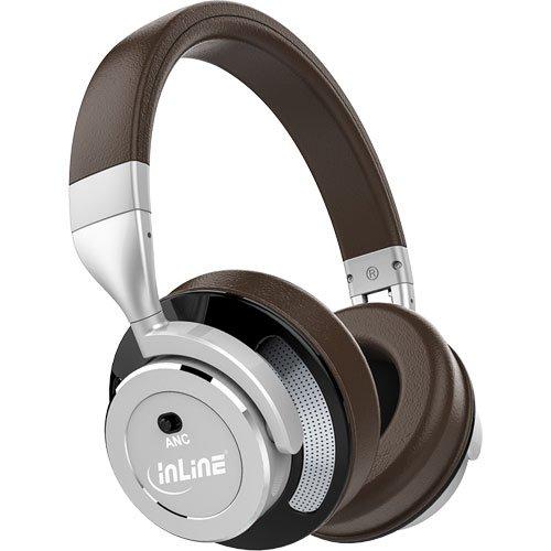 """Preisvergleich Produktbild InLine 55359B """"PURE I"""" Bluetooth Over Ear Kopfhörer mit Active Noise Cancelling braun/silber"""