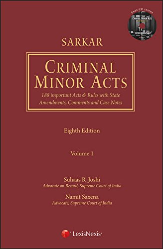 Sarkar's Criminal Minor Acts (Set of 2 Volumes with CD)