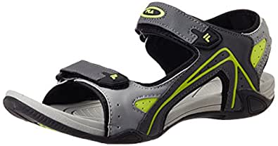 Fila Men's Lauro Grey and Green  Sandals and Floaters -10 UK/India (44 EU)