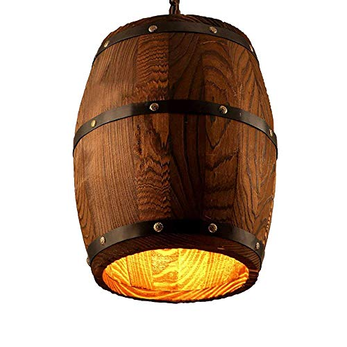 Einzigartige Kreative Weinfass Pendelleuchte Lichter Edison E27 1-Licht Vintage Loft Hängen Anhänger Laterne Kette Einstellbare Kitchen Bar Deckenleuchten -