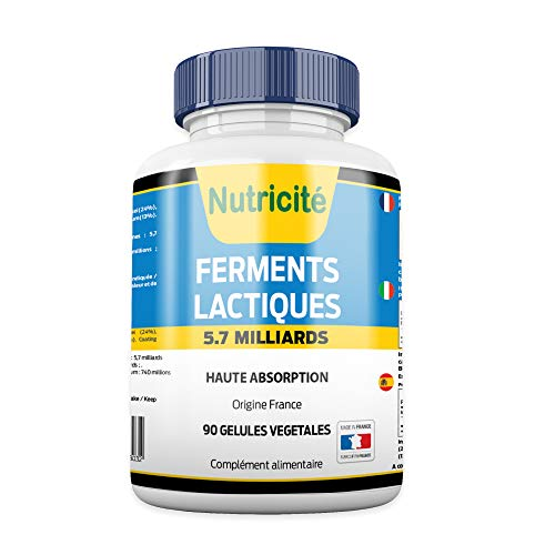 PROBIOTIQUES nutricite-bio 90 Gélules-Regain d'énergie-OFFERT: Facture +Notice d'utilisation...