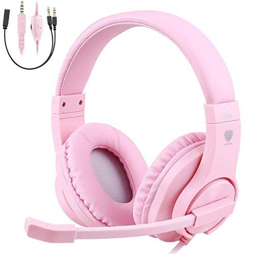 TurnRaise Casque de Musique d'enfants, Flexible 40mm Écouteurs Filaires avec Microphone et Contrôle du Volume