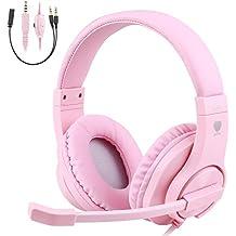 TurnRaise Auriculares para Niños, 40mm Flexible Auriculares con Cable con Micrófono y Control ...