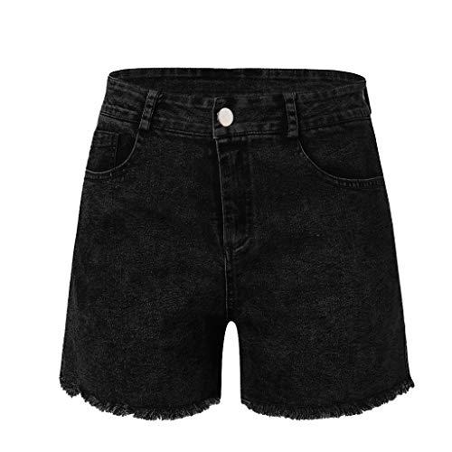 NPRADLA Damen Hot Pants Sommer Kurze Jeans Denim Hohe Taille Hosen Quaste Cowboy Strand Kleidung Taschen Frau Denim Shorts -