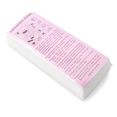 100Pcs depilazione professionale strisce ceretta tessuto non tessuto carte ceretta Depilazione...