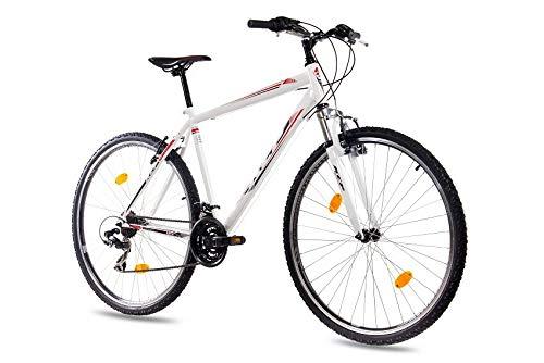 KCP 28 Zoll Mountainbike Fahrrad - MTB ONE Weiss - Mountain Bike mit Gabel-Federung für Herren, Jungen und Damen, MTB Hardtail mit 21 Gang Shimano Schaltung