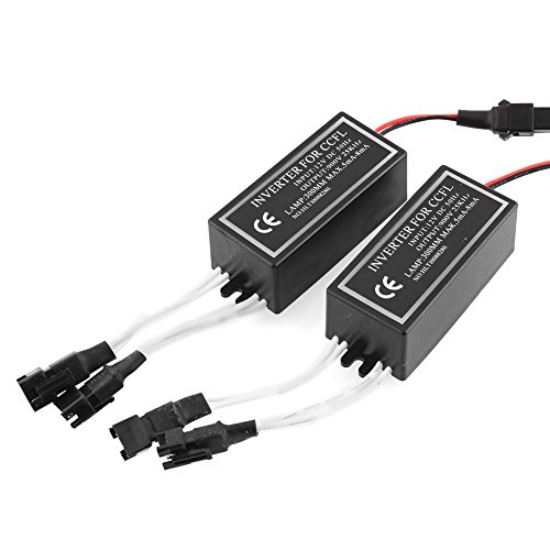 Car Dash Mounting Kits Car Electronics Accessories Waterproof 12V CCFL Inverter Spare Ballast Halo Angel Eyes Rings Kit Replacement for BMW Mazda Lexus Transport Drop
