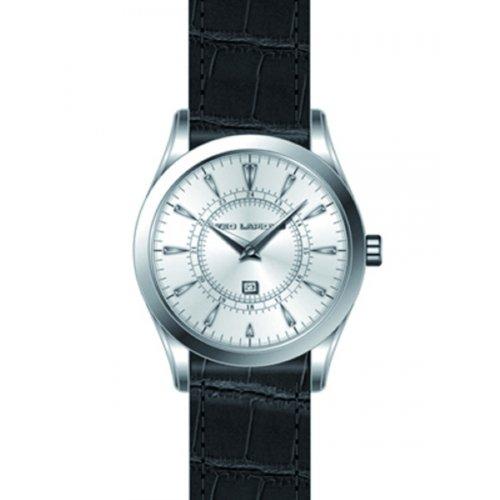 Ted Lapidus - 5126201 - Montre Homme - Quartz Analogique - Cadran Gris - Bracelet Cuir Noir