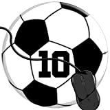 QCFW Tappetino Mouse Soccer Ball 10 per Il Calcio o Il Giocatore di Football Americano n. 10 Tappetino per Mouse da Gioco per Giochi Ufficio Base in Gomma Antiscivolo 2T3268