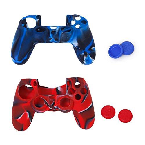 Fall Ps4 Steuerung (Unbekannt Ersatz Joystick Thumbstick Mütze Kappen und Silikon Schutzhülle Ersatz für PlayStation 4 PS4-Steuerung)