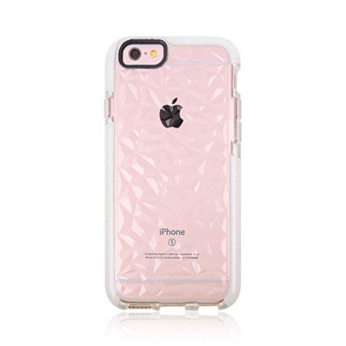 Phone Case & Hülle Für iPhone 6 u. 6s, Diamant-Beschaffenheit TPU Dropproof schützender rückseitiger Abdeckungs-Fall ( Color : Green ) Grey