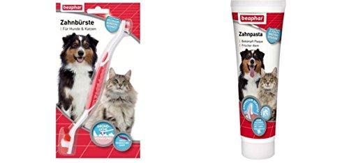 Beaphar Dog-A-Dent Zahnbürste +Zahnpasta