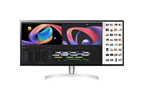 "LG 34WK95U-W - Monitor Profesional 5K2K de 86,4 cm (34"") con Panel NanoIPS (5120 x 2160 píxeles, 21:9, 450 cd/m², DCI-P3 >98%, 1200:1, 5 ms, 60 Hz) Color Plata y Blanco"