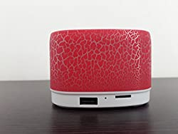 UBON VT-65 Portable Wireless Bluetooth Speaker with USB and TF card support Plus Kunhar OTG connector Color - Red