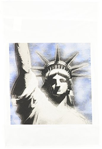 3drose FL _ 19424 _ 1 Lady Liberty Digital stilisierten Statue of Liberty in grau und blau Farben Garten Flagge, 12 von 18 (Lady Liberty-cover)