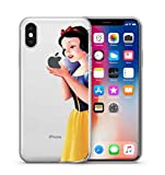 Phone Kandy Garde de la peau et l'écran clair transparent Hard Shell Case pour iPhone Cartoon Coquille (iPhone XS Max, Snow White)