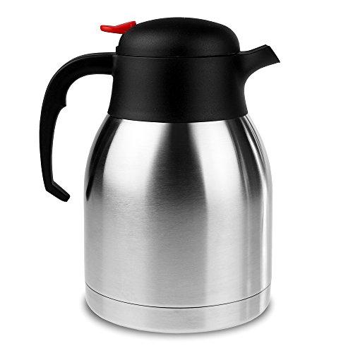 bar@drinkstuff Kaffeekanne/Isolierte Thermoskanne für heiße Getränke, Vakuum, Edelstahl,...