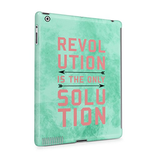 Revolution Is The Only Solution Mint Smoke Screen Hard Plastic Protective Snap On Case Cover For Apple iPad 2 , iPad 3 , iPad 4
