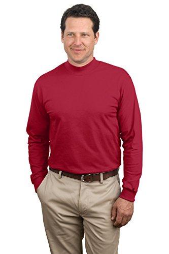 Port & Company Men'S Mock Turtleneck 4Xl Red (Mock Turtleneck Red Pullover)