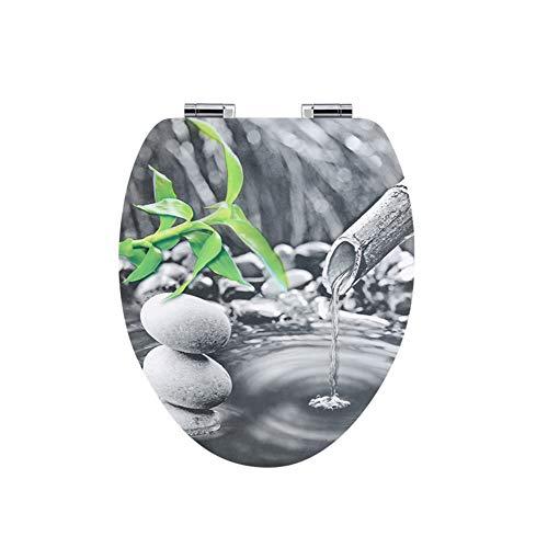 Längliche Wc sitze, Langsam schließen Geformtem holz Toilettensitze Heavy-duty Und Antimikrobielle Starke scharniere, Einfache installation Und Reinigung-V-Form W36xH44.4cm(14x17inch)