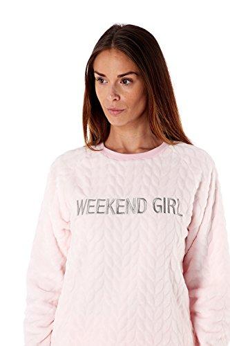Generic -  Pigiama due pezzi  - Donna Light Pink Weekend Girl