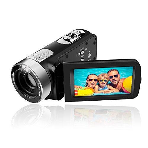 Caméscope caméra vidéo Full HD 1080p caméscopes 24,0 MP appareil photo numérique webcam pause fonction 16x zoom numérique