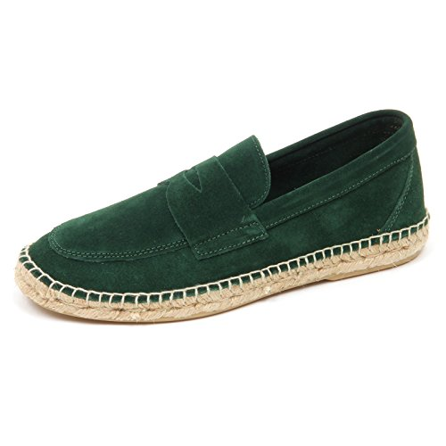 ABARCA D2576 mocassino uomo green leather espadrillas loafer shoe man Verde