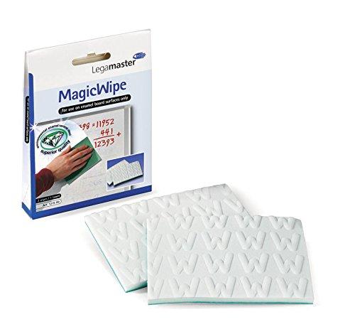 Legamaster 7-121500 MagicWipe, entfernt Permanent-Marker von emaillierten Whiteboards, 2 Stück