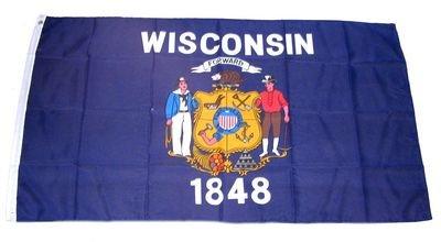 Fahne / Flagge USA Wisconsin NEU 90 x 150 cm Flaggen