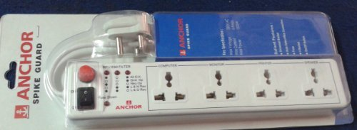 Anchor Spike Guard 4 Way Socket with Single Switch  available at amazon for Rs.390