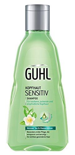 Guhl Kopfhaut Sensitiv Shampoo - 2er Pack (2x 250 ml) - mit weissem Tee und Wasserminze - milde...